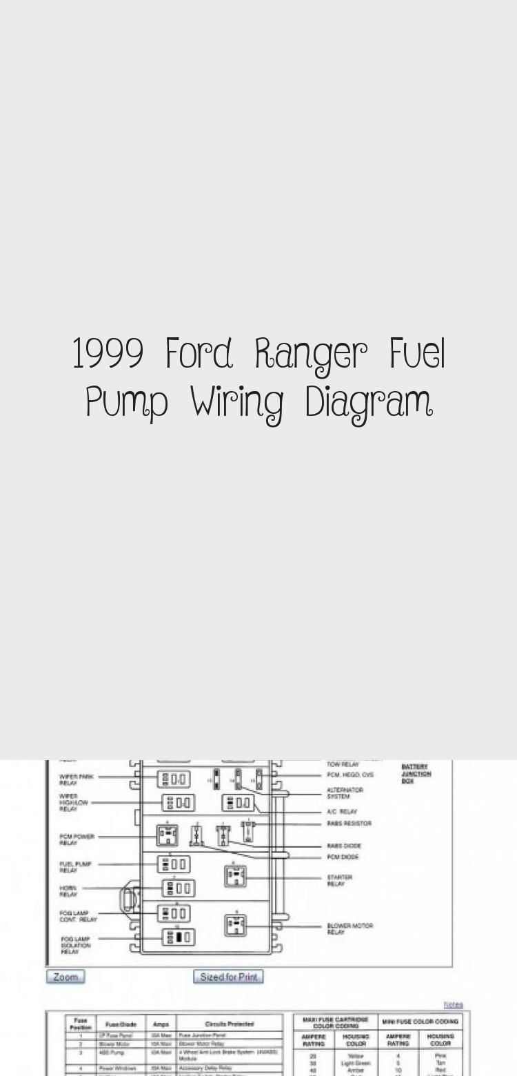 1999 Ford Ranger Fuel Pump Wiring Diagram in 2020 (With ...