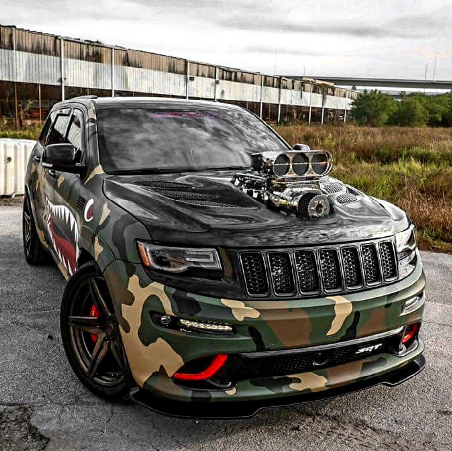 Custom Blown Camo Srt Jeep Grand Cherokee Jeeps New