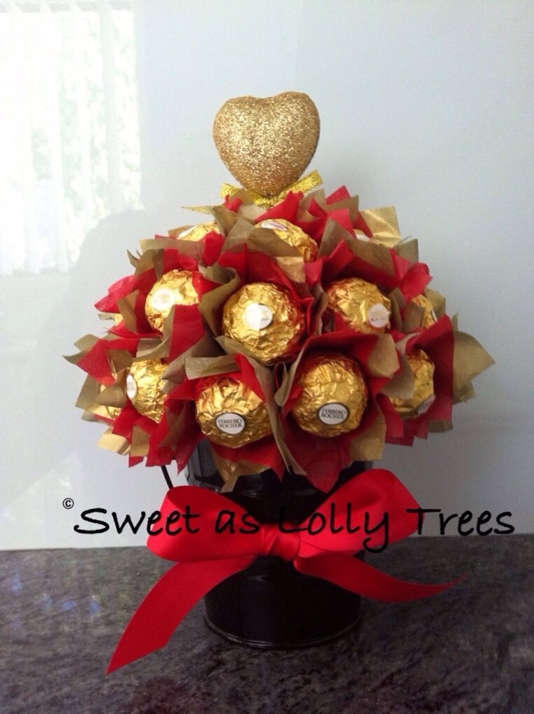 Ferrero Rocher Valentines Day Potted Bloom Gift Ideas