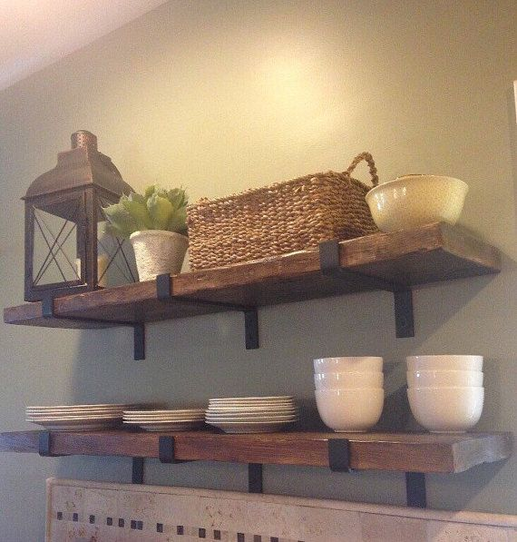 Custom Made Reclaimed Wood Shelves Can Be Used For Floating