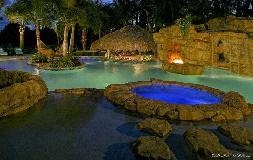 Best natural rock swimming pool designs ideas for Best home swimming pools