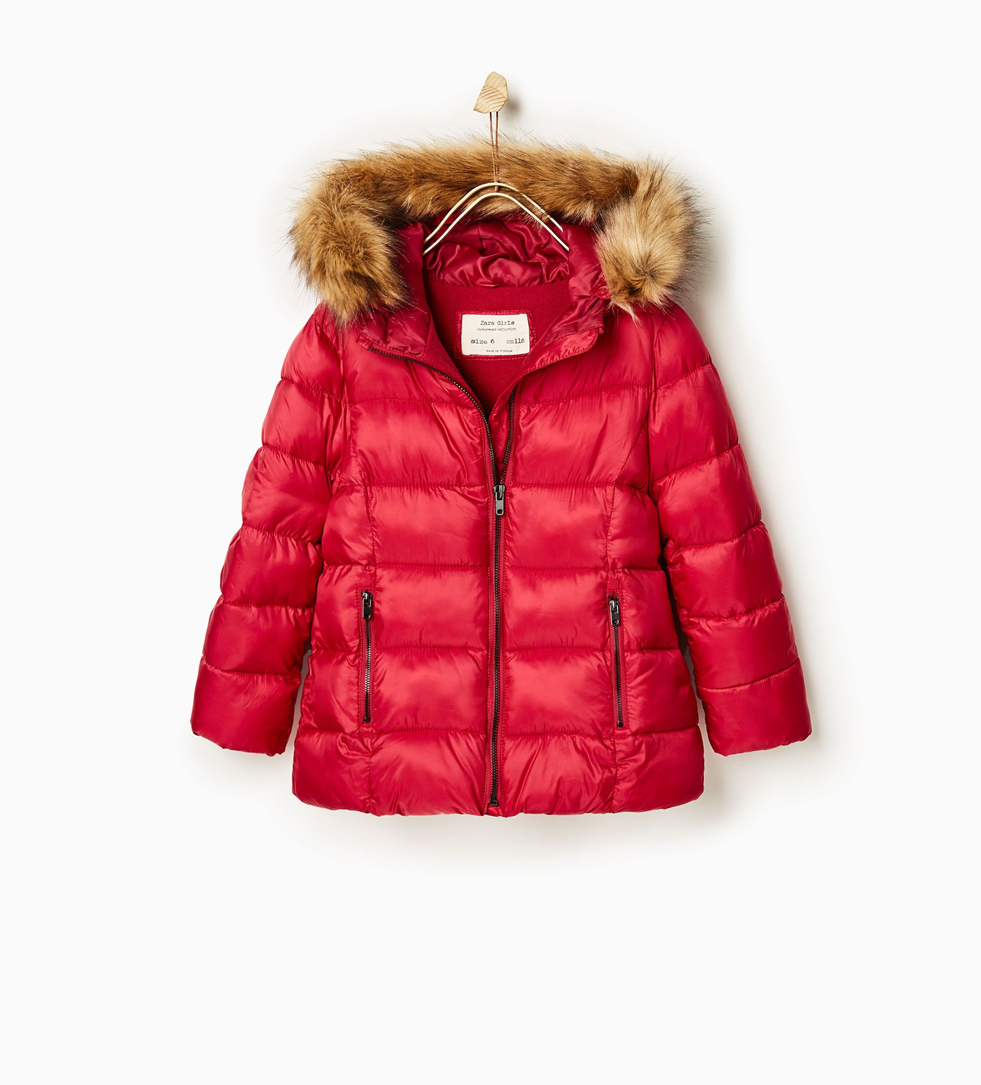 Quilted jacket with hood Quilted OUTERWEAR GIRL | 4 14