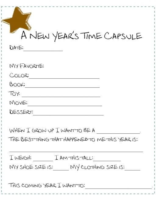 Time Capsule Q S Children S New Year S Eve Party Ideas Babycentre