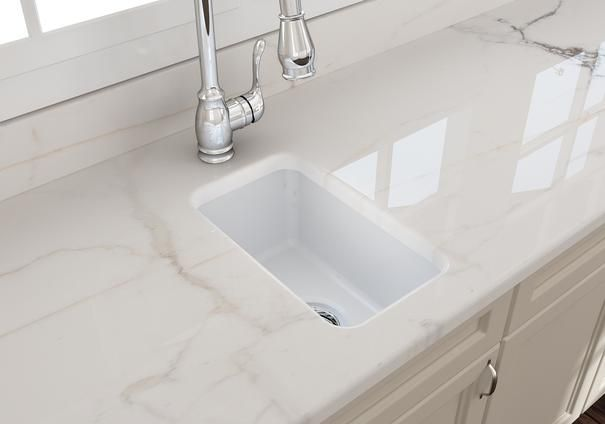 Bocchi Sotto 12 Fireclay Undermount Single Bowl Bar Sink Matte White 1358 002 0120 In 2020 Bar Sink Sink Butler Pantry