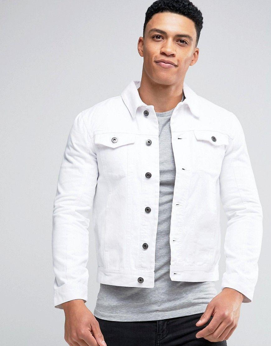 Brave Soul Denim Jacket White White Jeans Men White Jean Jacket Mens Jackets