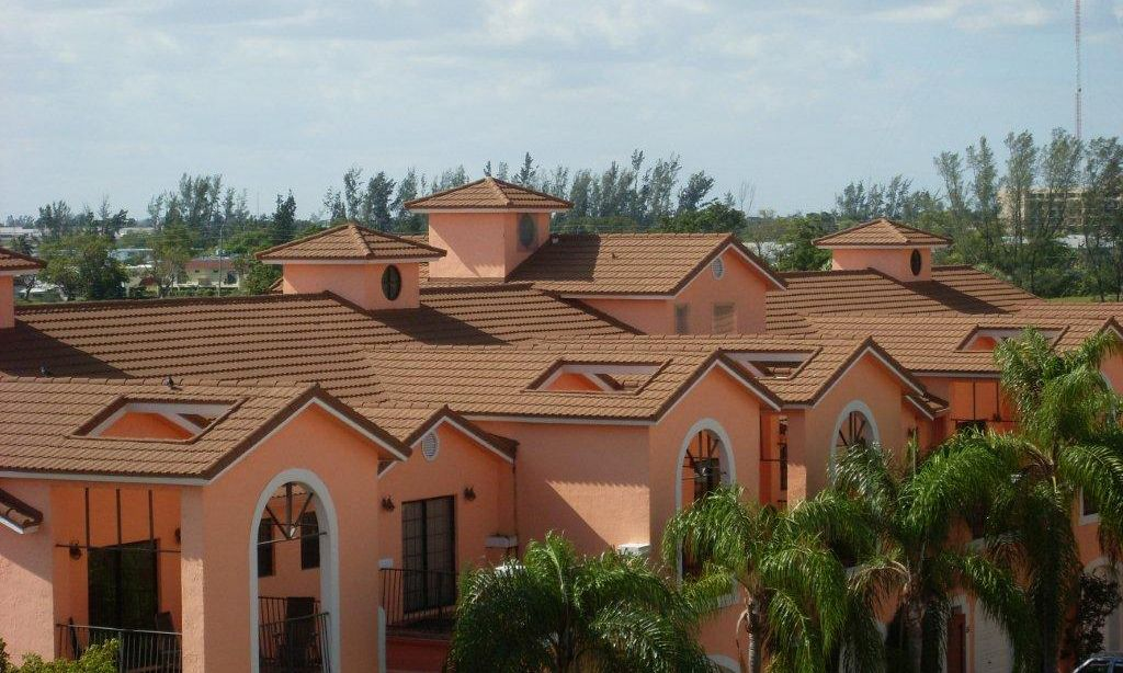 Stone Coated Steel Reroof On Lakeview Town Homes In Miami