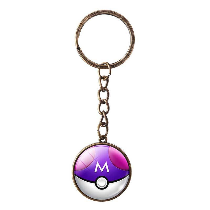 Fashion Pokemon Keychain Jewelry Bronze Chain Pokemon Go Keyrings Lovely Pokeball Key Chain Key Rings For Women Men Gift 2016