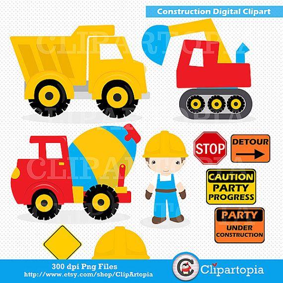 Construction Digital Clipart Construction Clipart Trucks