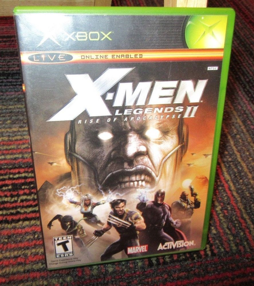 X Men Legends Rise Of Apocalypse Ii Game For Microsoft Xbox Case Game Manual X Men Apocalypse Activision