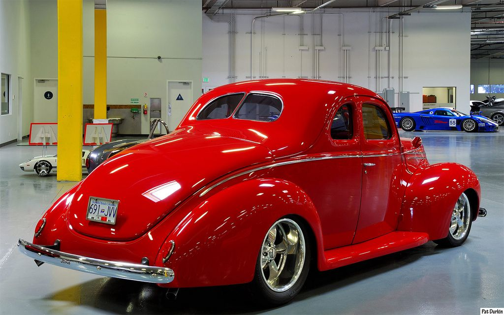 1939 Ford Deluxe Coupe Mod Red Rvr Ford Classic Cars Hot Rods Cars Ford