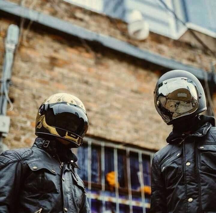 Anchor Bolts Retro Motorcycle Helmets Cafe Racer Helmet Vintage Helmet