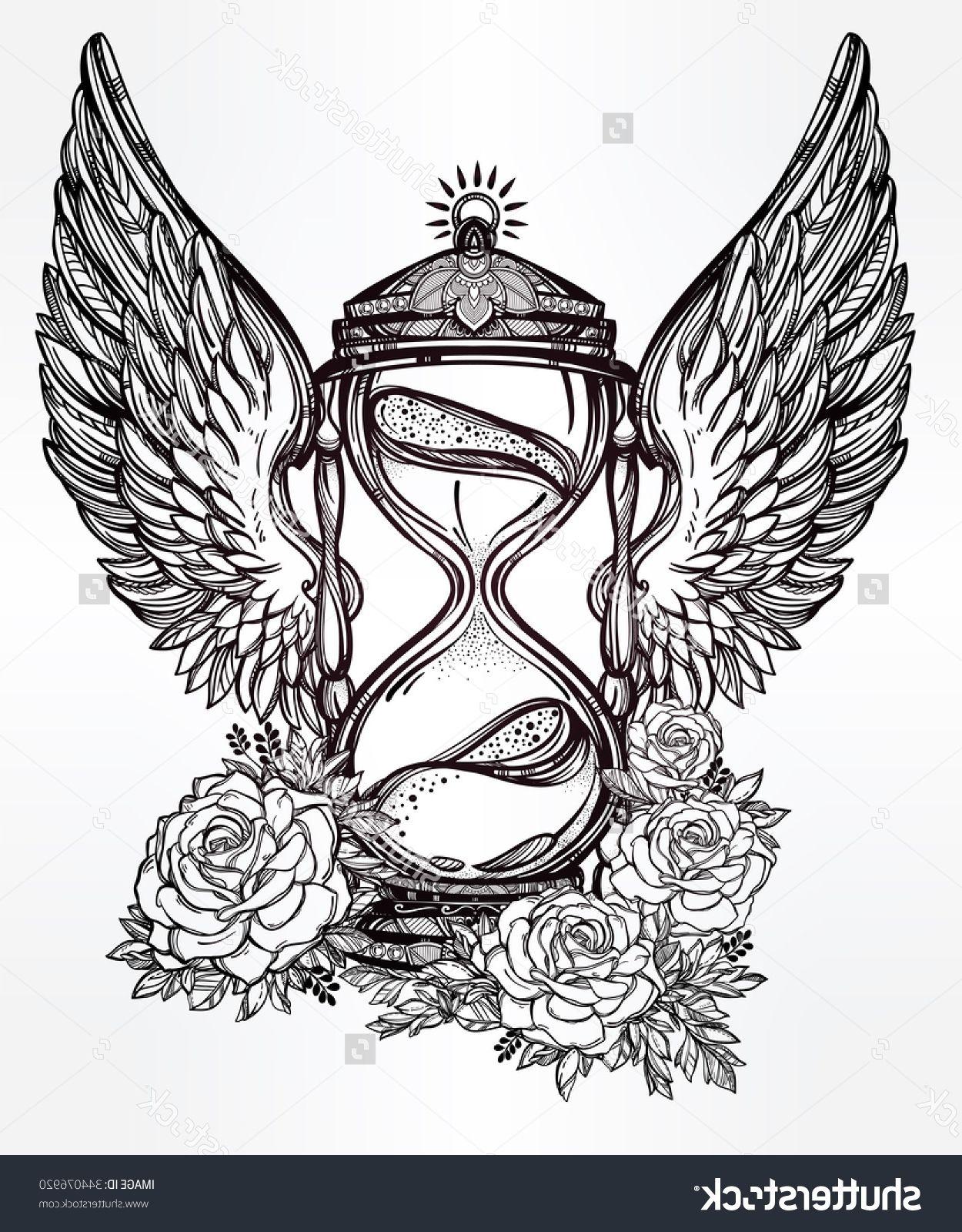 Hand drawn tattoo designs hand drawn romantic beautiful drawing of hand drawn romantic beautiful drawing of a hourglass tattoo design mystic time symbol for your use comprar estea imagem vetorial de banco no biocorpaavc Images