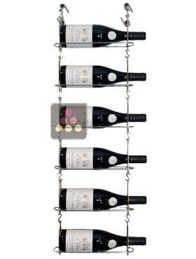support mural de 6 bouteilles chain my wine aci cmw100 rangement vin casiers bouteilles. Black Bedroom Furniture Sets. Home Design Ideas