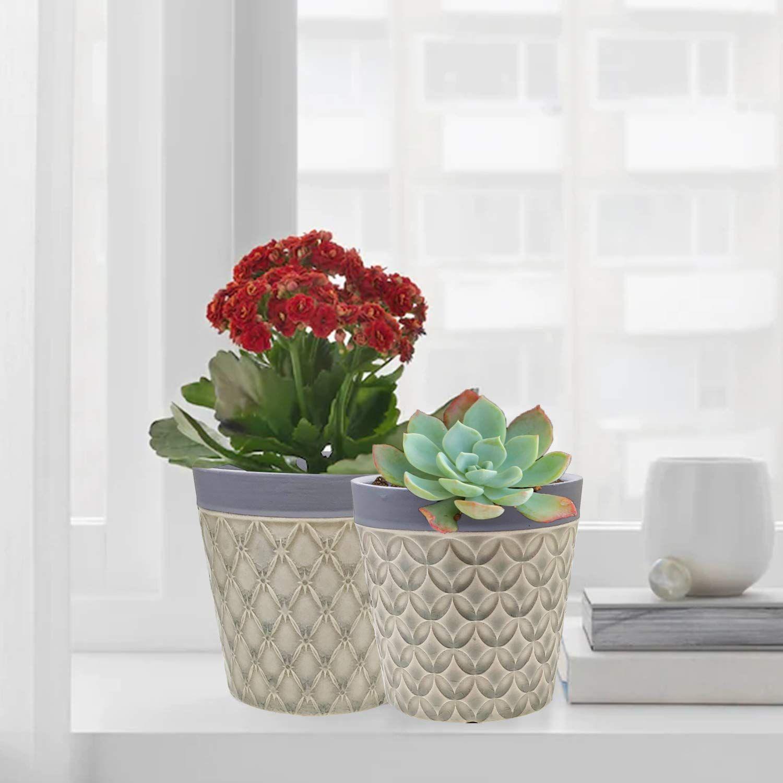 Succulent Pots Big Succulent Planters 4 Bohemian Cement Flower Pot Garden Planters Cactus Plant Pot For Of In 2020 Cement Flower Pots Cactus Plant Pots Succulent Pots