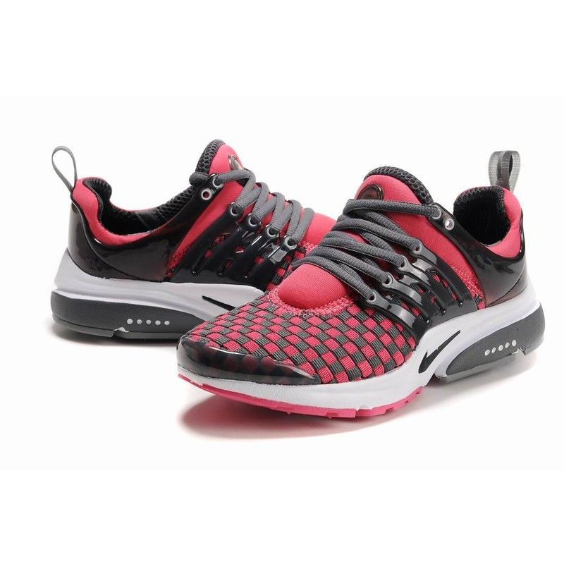 New Release Womens Nike Air Presto Woven Running Shoes - Black/Pink/White