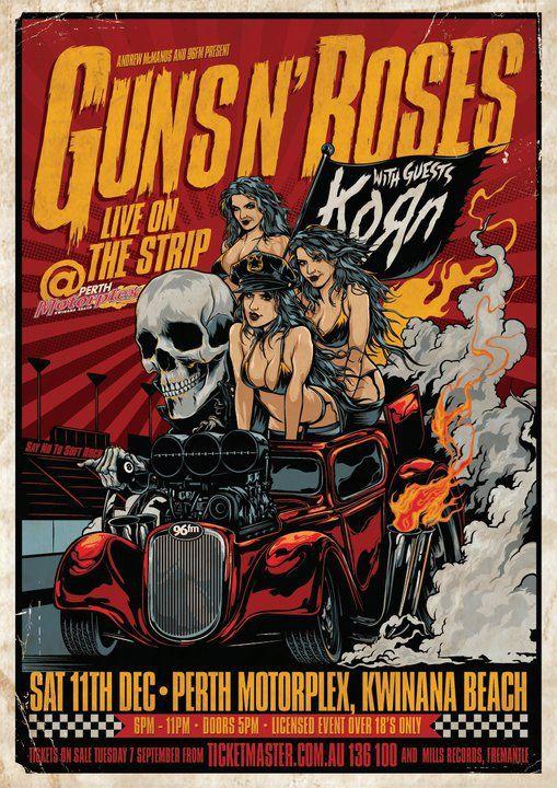 guns n roses vintage music posters