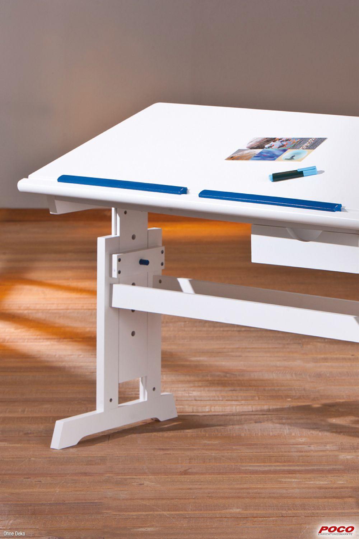 Schreibtisch Baru Weiss 109x55cm Mit Sl Online Bei Poco Kaufen In 2020 Schreibtisch Schulerschreibtisch Wohnen