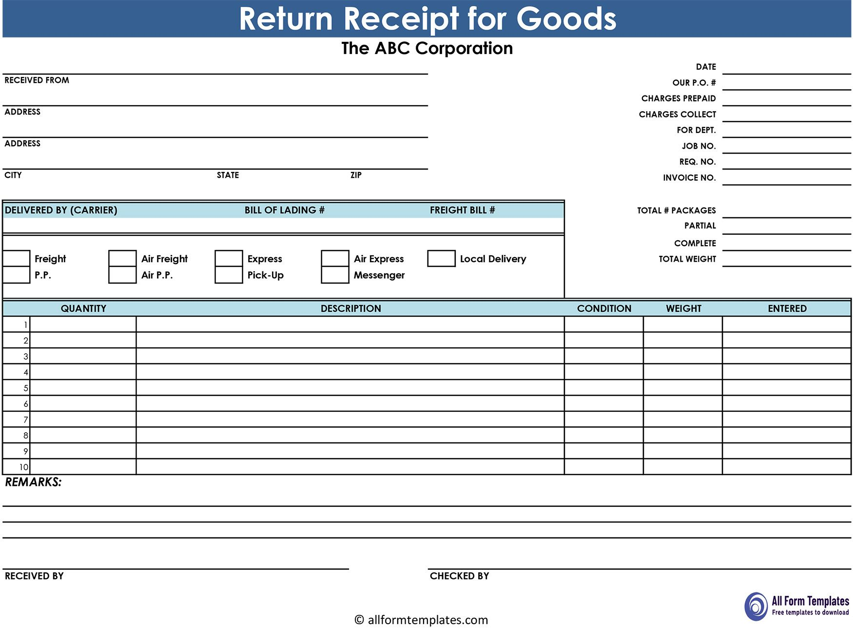 Receipt For Goods And Products Receipt Template Word Template Templates
