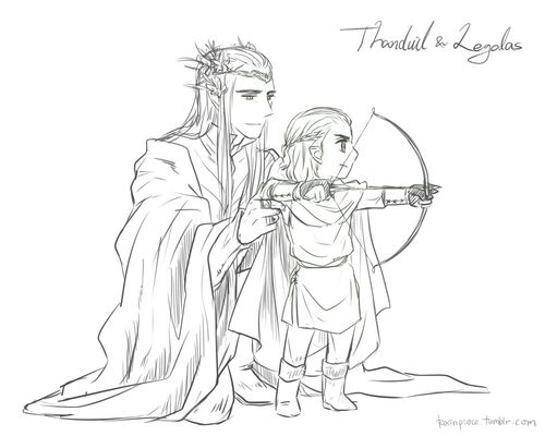 Father and Son by Rain Piece (Thranduil and Legolas) | Tolkien Art ...