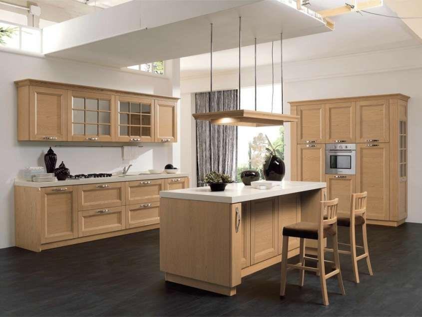 Cucine Stosa - Cucina Contemporanea Beverly in legno chiaro | Shabby
