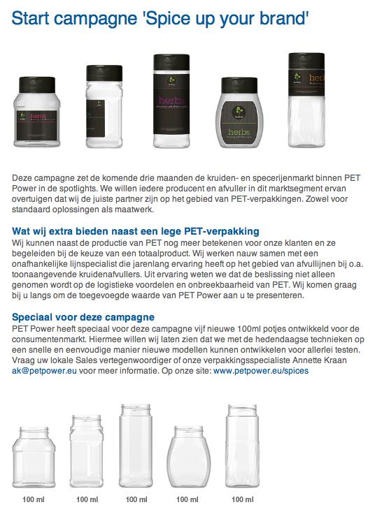 59fa234ab45 Start campagne voor kruiden PET potten: Deze campagne zet de komende drie  maanden de kruiden