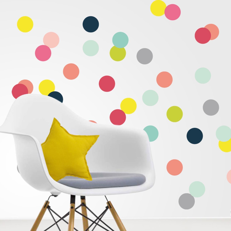Vinilo topos de colores llena la habitaci n de energ a - Colores de habitacion ...
