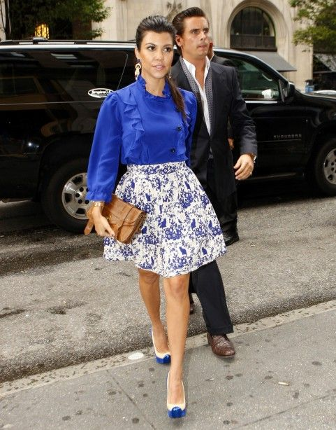 royal blue & print