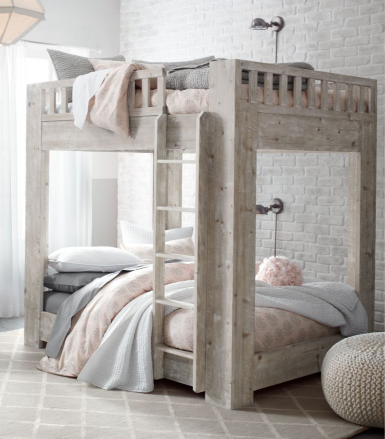 Full Over Full Bunk Bed Modern Functional Design Perfect For Pay