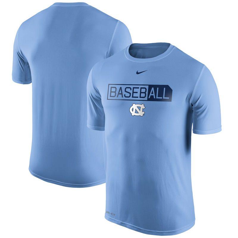 North Carolina Tar Heels Nike BasebALL Legend Logo Performance T-Shirt - Carolina Blue