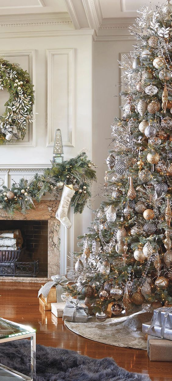 25 Awesome Rose Gold Christmas Trees Decoration Ideas on 2017 Rose - white christmas tree decorations