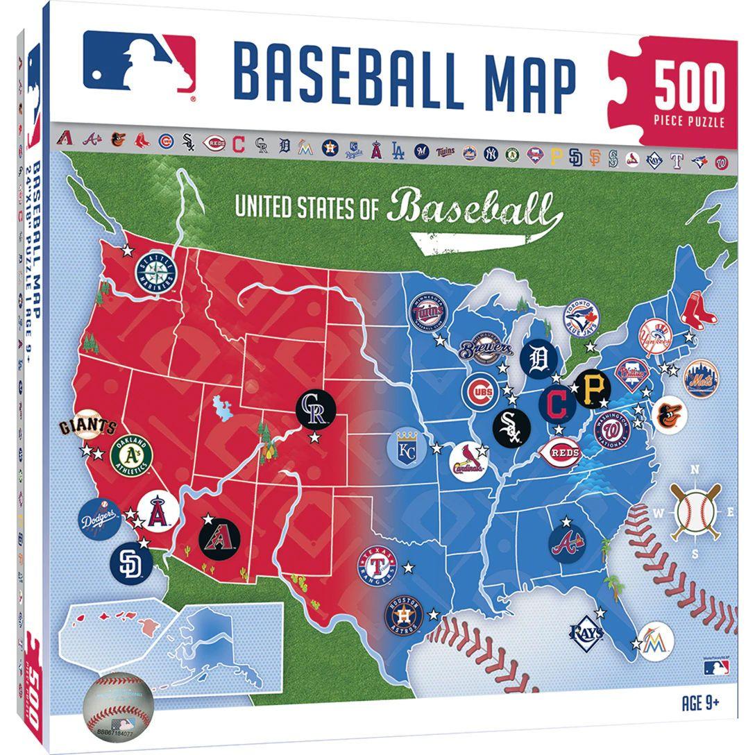 Mlb Usa Baseball Map 500pc Jigsaw Puzzle Br Easter Possible But Not Guaranteed In 2020 Major League Baseball Mlb Mlb Wallpaper