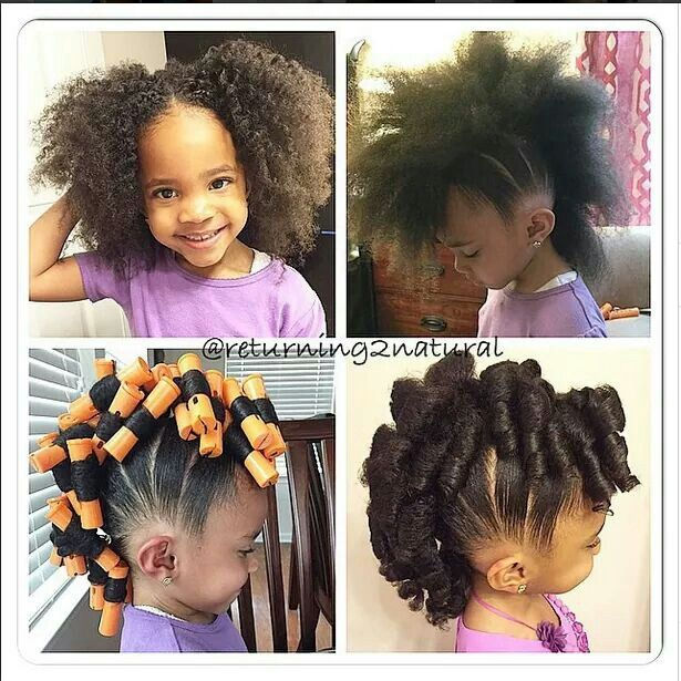 Cute Little Girl Perm Rod Mohawk Hairstyles For My