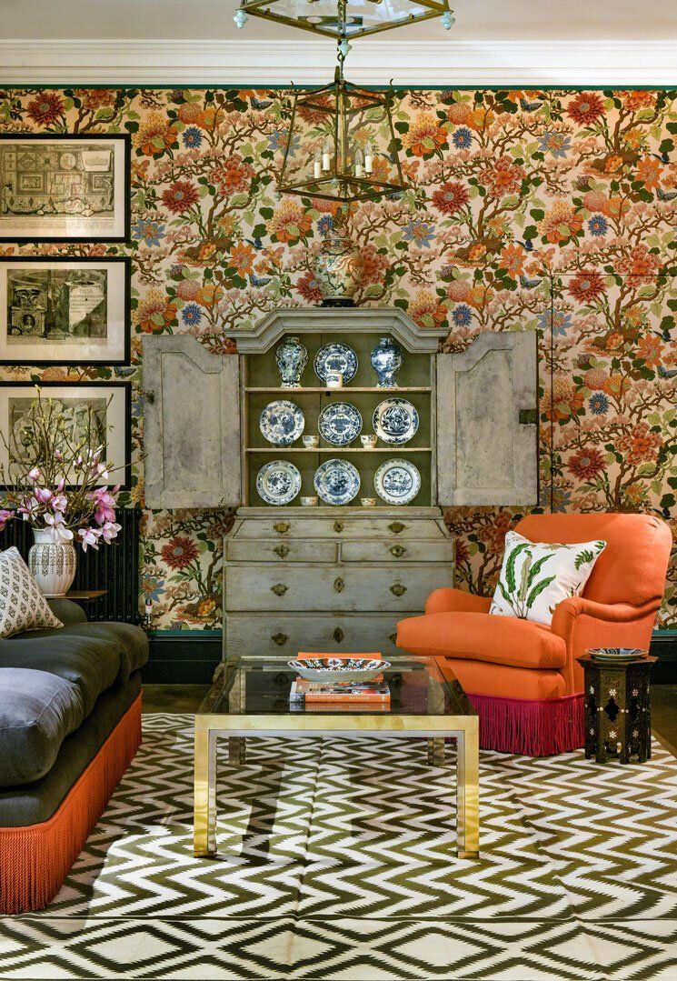 Designer Wendi Young kept the palette muted in the living ...