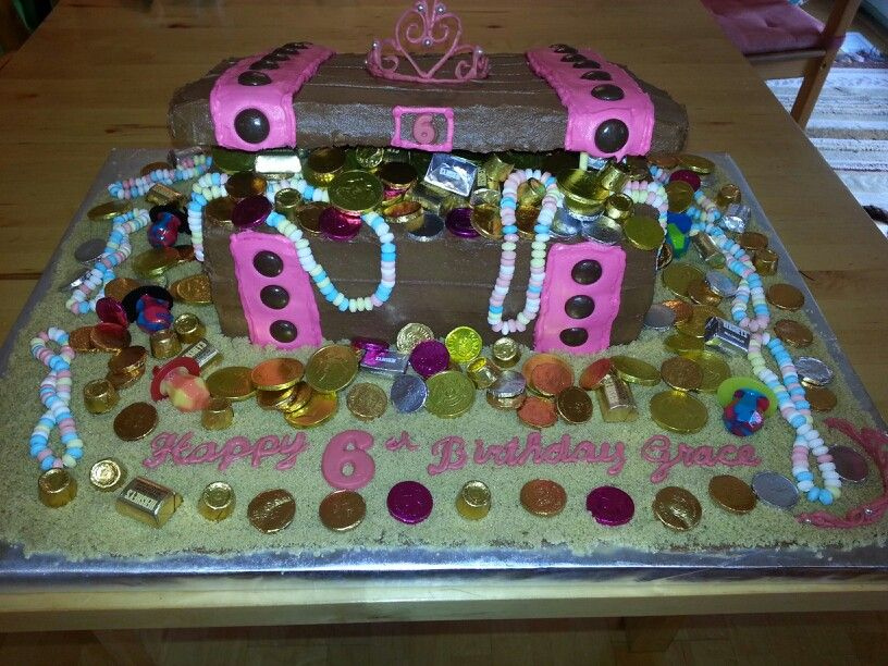 Pirate Princess Treasure Chest Cake