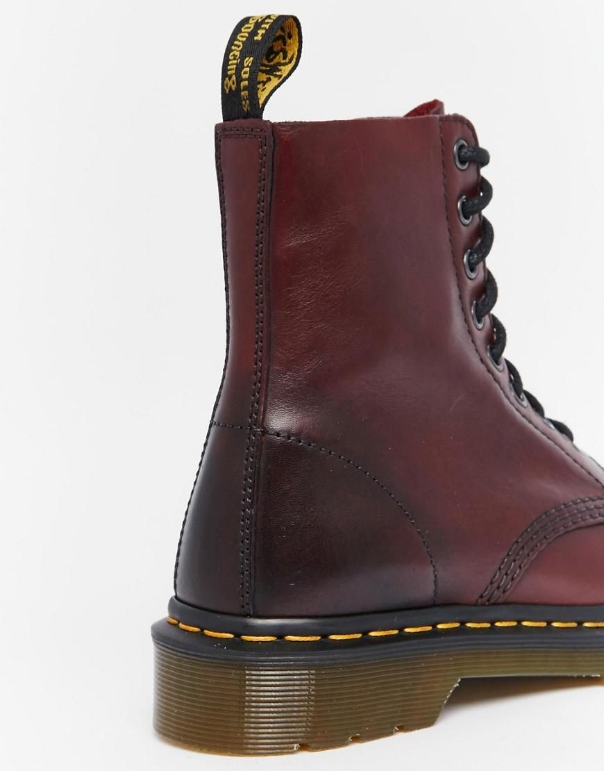 e8383f6ae58d2 Dr Martens | Dr Martens Pascal Cherry Red 8-Eye Boots at ASOS ...
