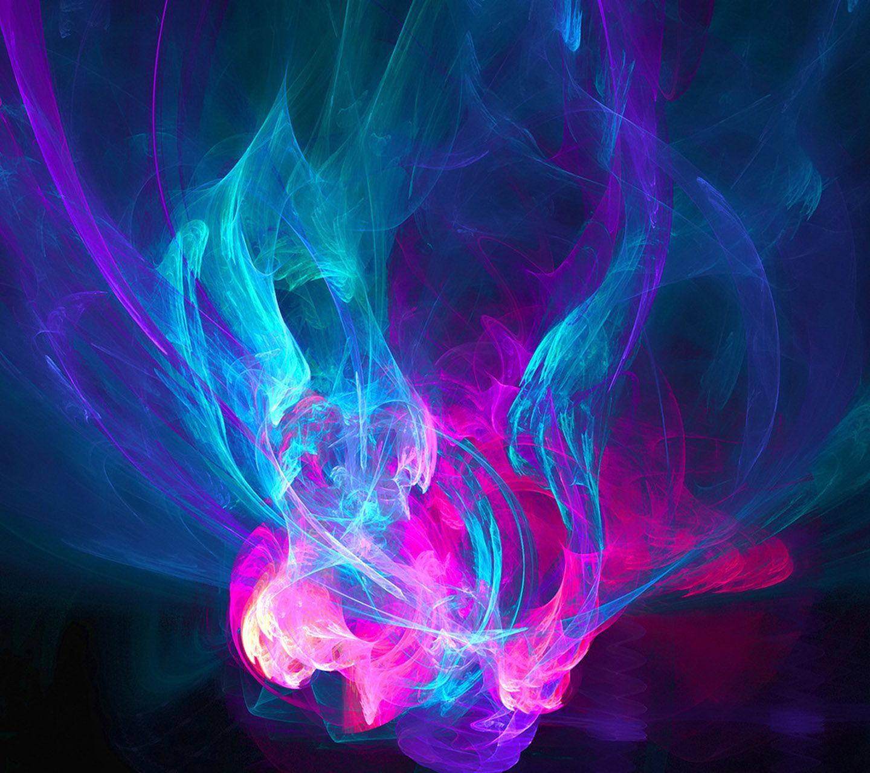 Разноцветное пламя скачать картинку на телефон смартфон ...