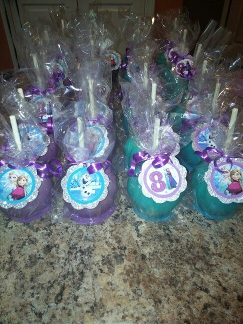 Frozen Themed Candy Apples Candy Apples In 2019