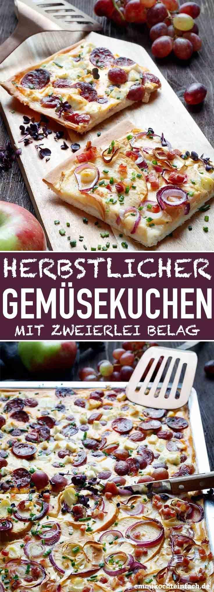 Gemüsekuchen vom Blech - herzhaft & herbstlich #thanksgivingrecipes