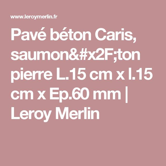 Pavé Béton Caris, Saumon/ton Pierre L.15 Cm X L.15