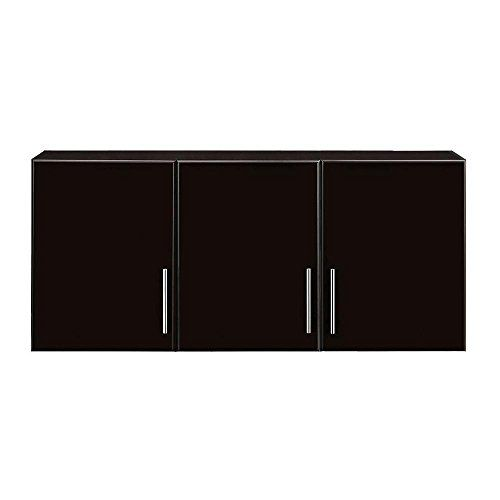 24 In H 3 Door Wall Cabinet In Espresso Thd90070 4a St Wall Cabinet Adjustable Shelving Storage Cabinet With Drawers