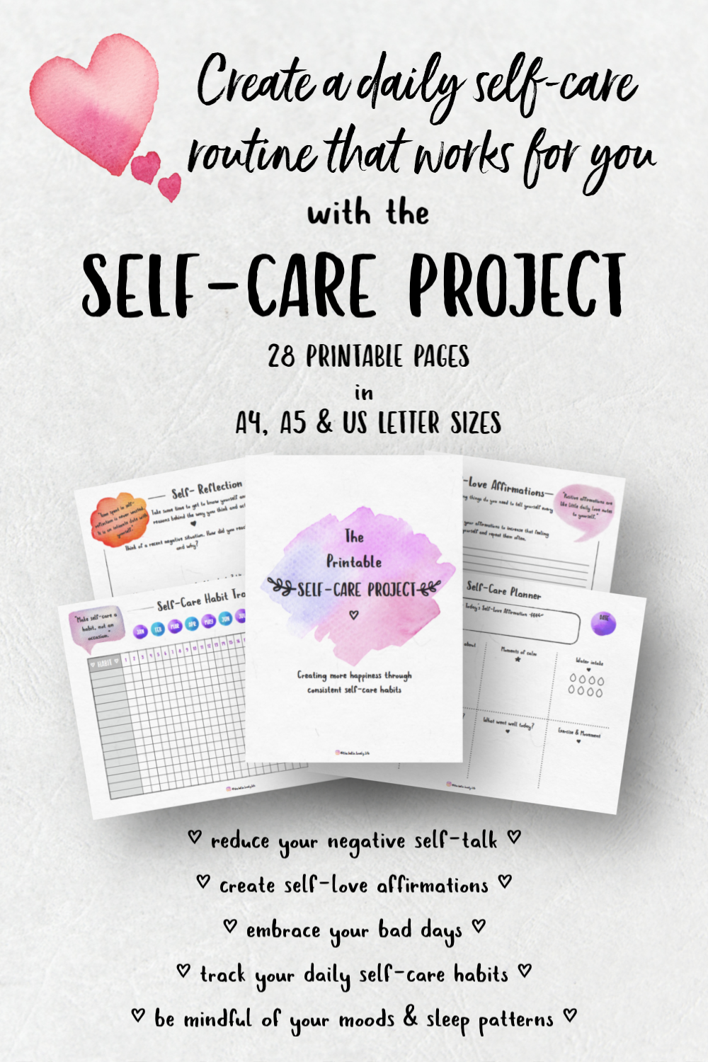 picture relating to Printable Paradise identify The Printable Self-Treatment Challenge Printables Paradise Self