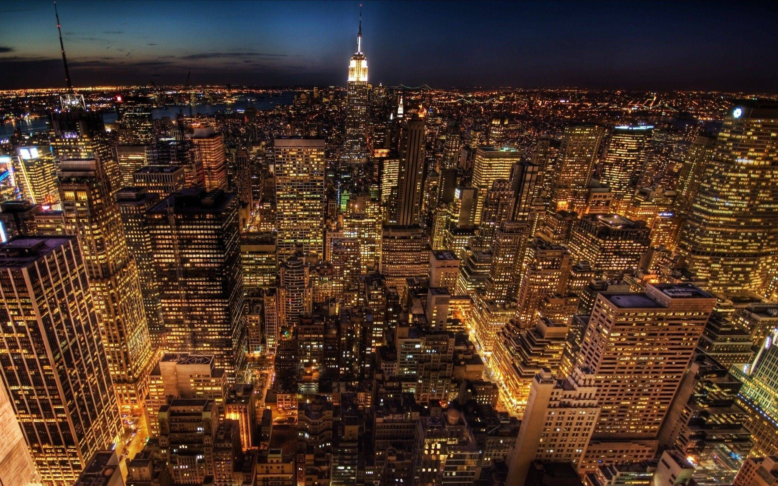 Most Downloaded New York City Night Wallpapers Full Hd Wallpaper