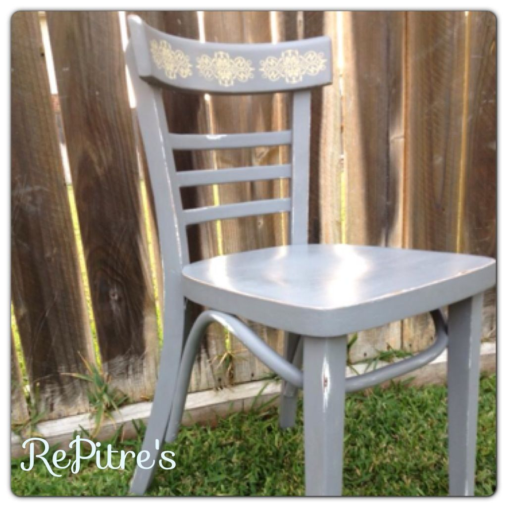 grey painted chairs used office chair pin by repitre s on furniture with yellow stencil https www facebook