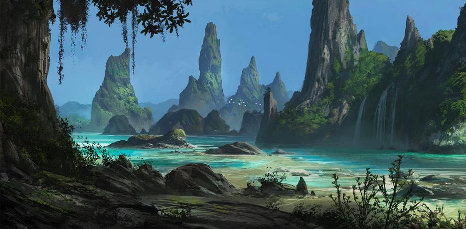 Digital Painting Concept Landscapes Landscape Concept Fantasy Landscape Environment Concept Art