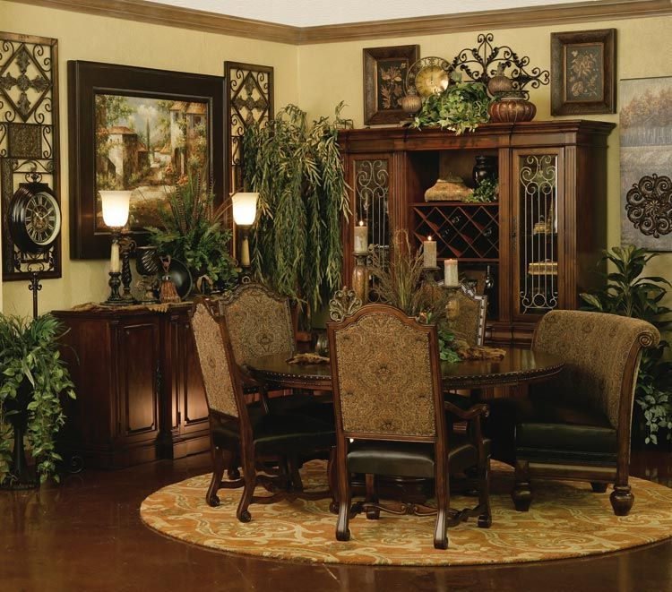 Tuscan Style Dining Room Furniture: Pin By Cie On Tuscany Decor In 2019