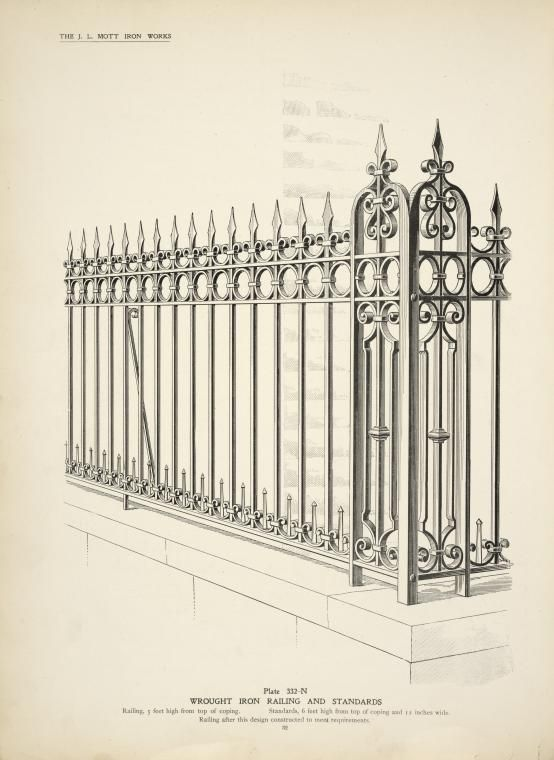 Wrought Iron Railing And Standards Wrought Iron Fences Fence