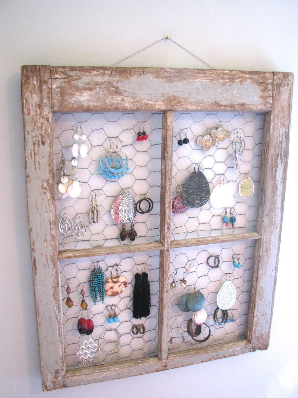 Fun and funky DIY jewelry organizer DIY Pinterest Diy jewelry