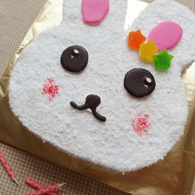 レシピとお料理がひらめくSnapDish - 10件のもぐもぐ - rabbit cake for a lovely birthday girl. by Franny