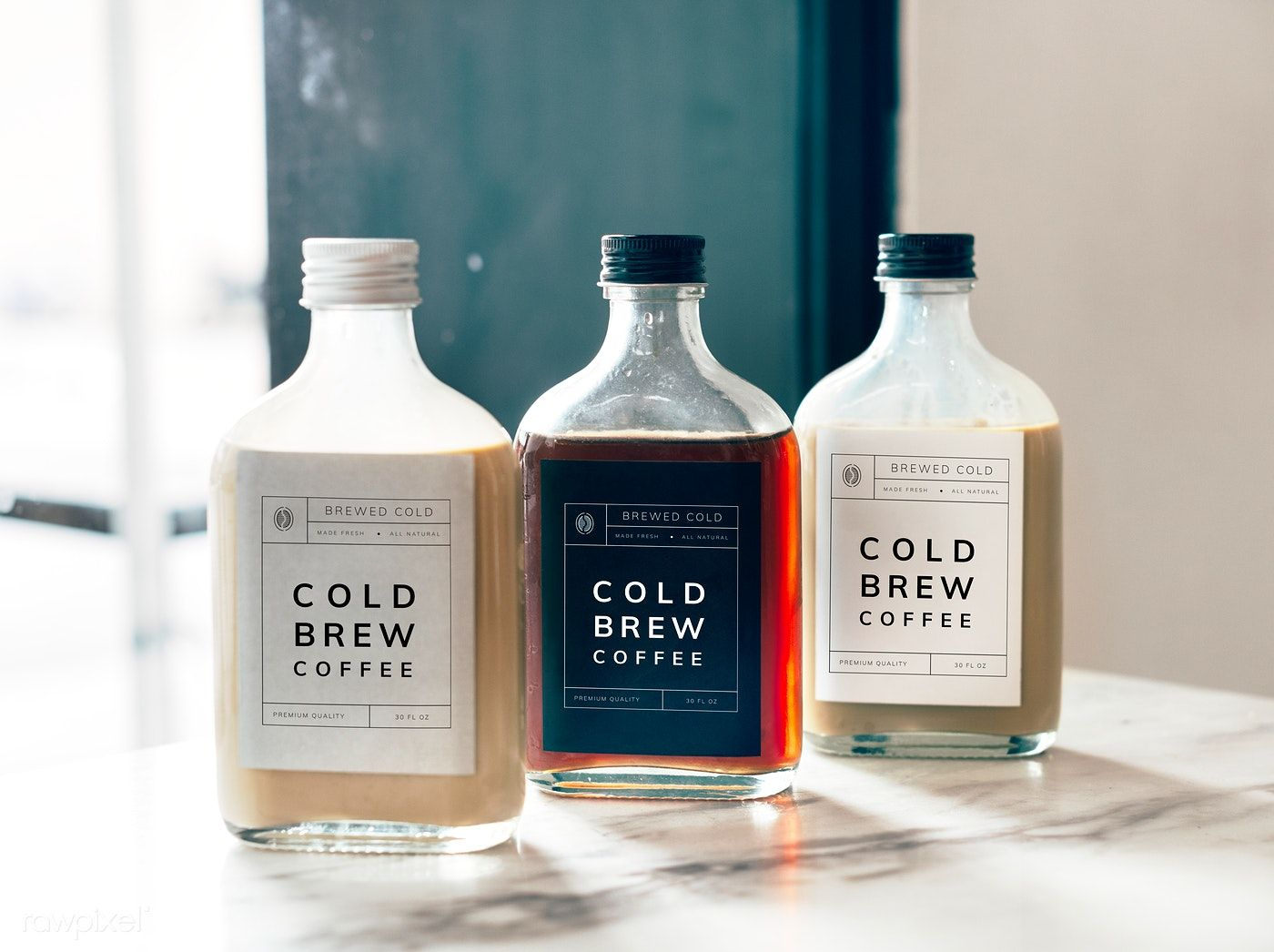 Cold Brew Coffee Bottle Mockup Design Free Image By Rawpixel Com Cold Brew Packaging Drinks Packaging Design Bottle Design Packaging