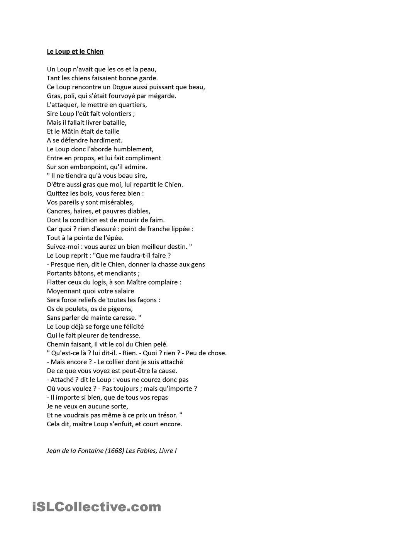 Commentaire Le Loup Et Le Chien : commentaire, chien, Chien, Fontaine, Loup,, Fables, Fontaine,, Fontaines